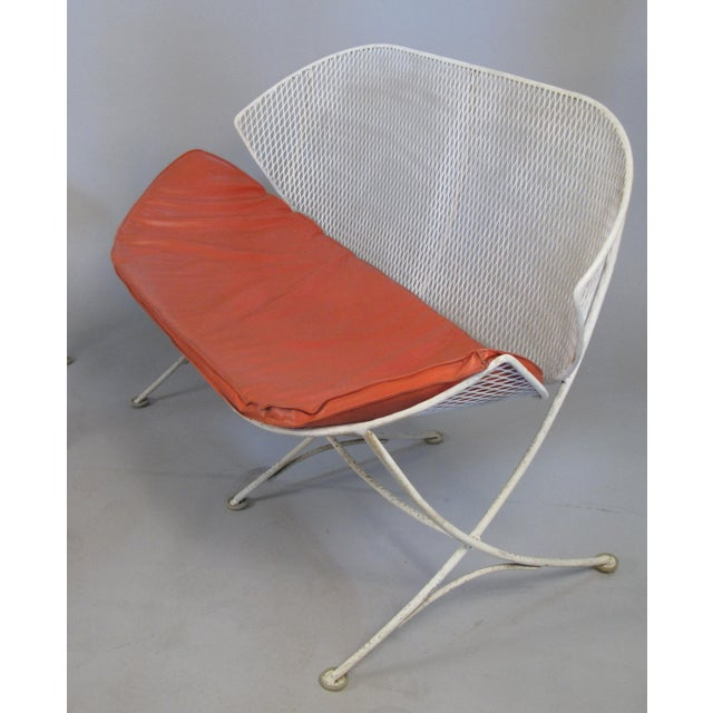 1950s 1950s Salterini Orange Slice Settee and Lounge Chair For Sale - Image 5 of 7