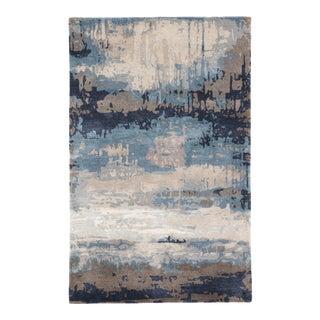 Jaipur Living Benna Handmade Abstract Blue Gray Area Rug 12'X15' For Sale