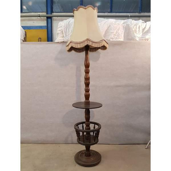 Early 20th Century French Floor Lamp stand with Attached Table. Very solid construction. This lampstand comes without the...