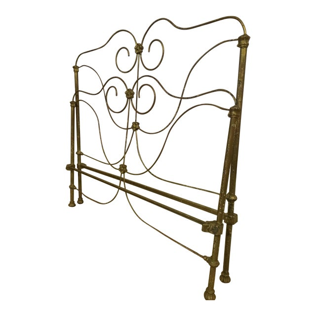 Antique Victorian Full Iron Bed Headboard and Footboard - 2 Pieces For Sale