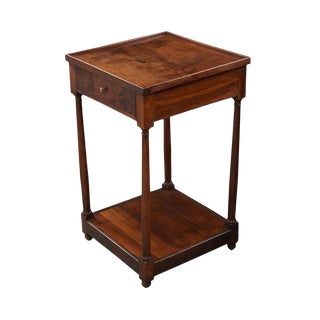 French 19th Century Restoration-Style Walnut Bedside Table For Sale