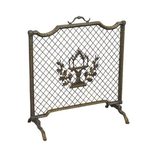 Maitland Smith French Louis XV Style Rococo Bronze Fire Screen For Sale