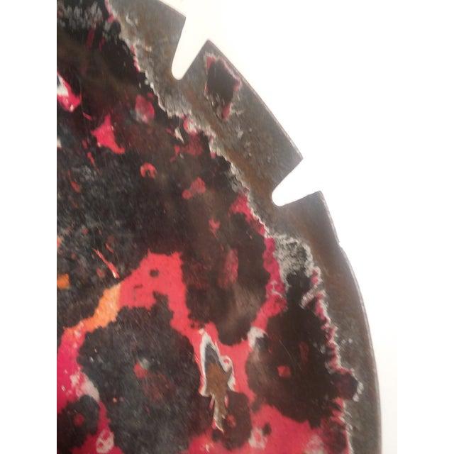 Orange Mid-Century Modern Large Enamelware Ashtray For Sale - Image 8 of 9