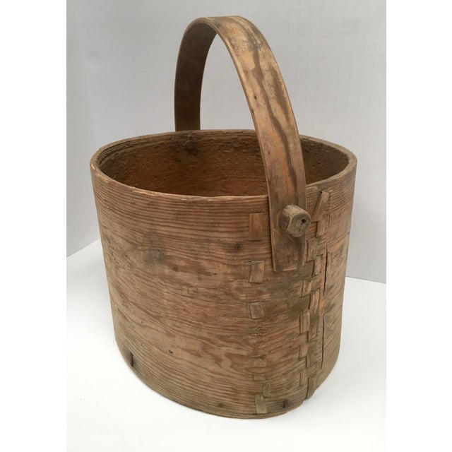 Antique Wood Butter & Cheese Basket For Sale - Image 10 of 10