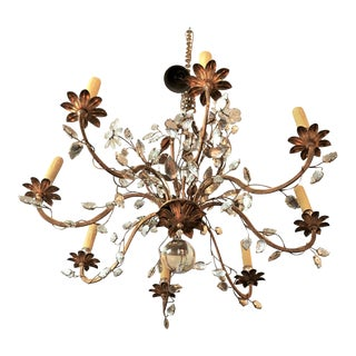 Pair of Art Deco Crystal Chandelier For Sale