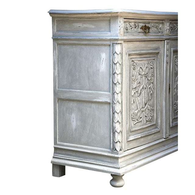 Traditional French Louis XVI-style Painted Buffet - Image 7 of 10
