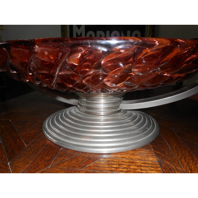 1930s French Art Deco Glass Bowl For Sale - Image 5 of 7