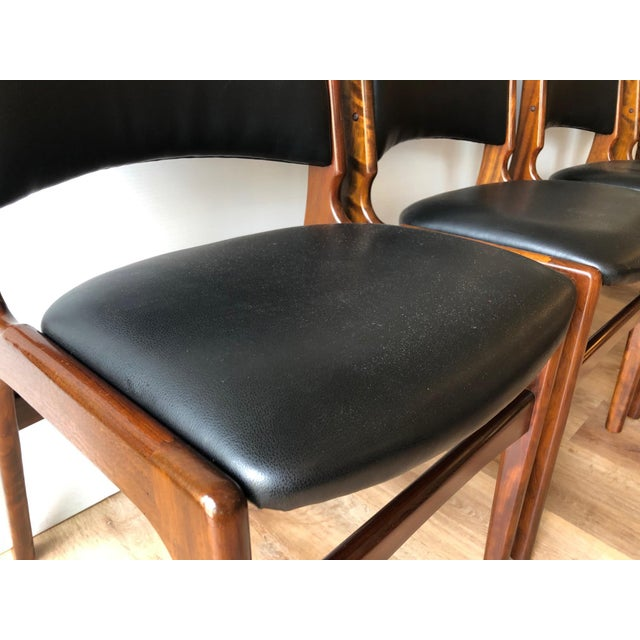Black 1960s Vintage Rosewood Dining Chairs by Erik Buch (Model 89) - Set of 4 For Sale - Image 8 of 13