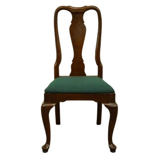 Late 20th Century Vintage Kling Colonial Solid Cherry Traditional Queen Anne Style Dining Side Chair For Sale