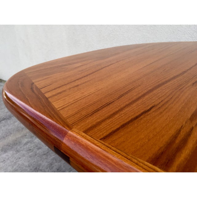 Mid-Century Expandable Teak Dining Table - Image 7 of 11