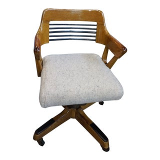 Mid Century Vintage B. L. Marble Co. Louvered Office Chair For Sale