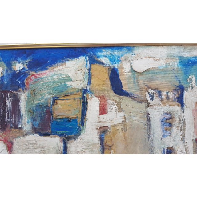 1950's Technique Palette Impasto Cubist Abstract Oil on Canvas Painting For Sale In Miami - Image 6 of 10