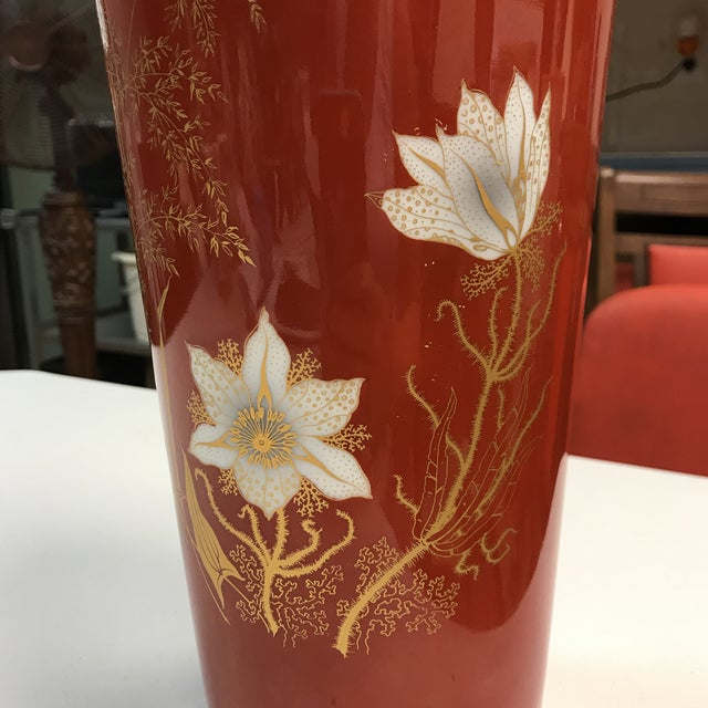 Jaeger & Co. Hand-Painted Vase For Sale - Image 10 of 11