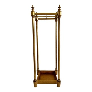 Warren Kessler Brass Umbrella Stand Holder English Style For Sale