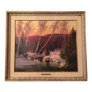 "Edna Palmer Engelhardt ""Purple Hue of Evening"" Painting For Sale"