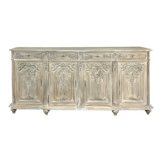 Antique Liegoise Louis XIV Whitewashed Buffet For Sale
