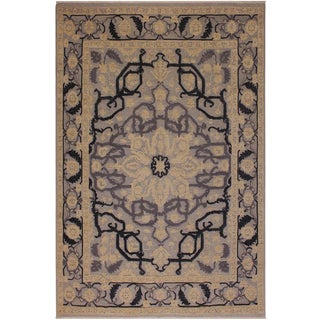 Contemporary Ziegler Nick Blue Wool Rug -8'0 X 10'5 For Sale