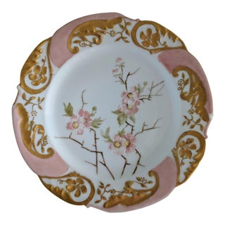 Mid 19th Century Antique Limoges Gold Trimmed Plate