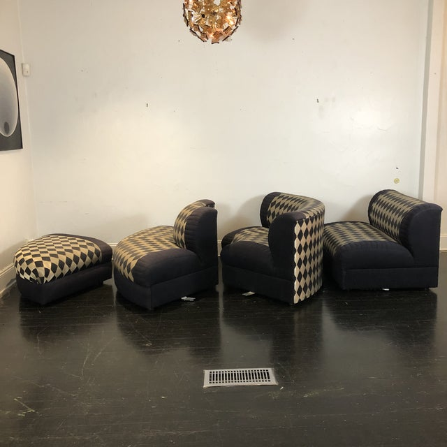 1980s Vladimir Kagan Curved 5 Piece Sofa for Weiman For Sale In San Antonio - Image 6 of 13