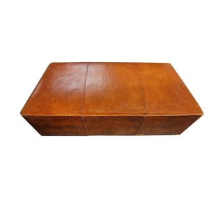 Late 20th Century Leather Hassock For Sale