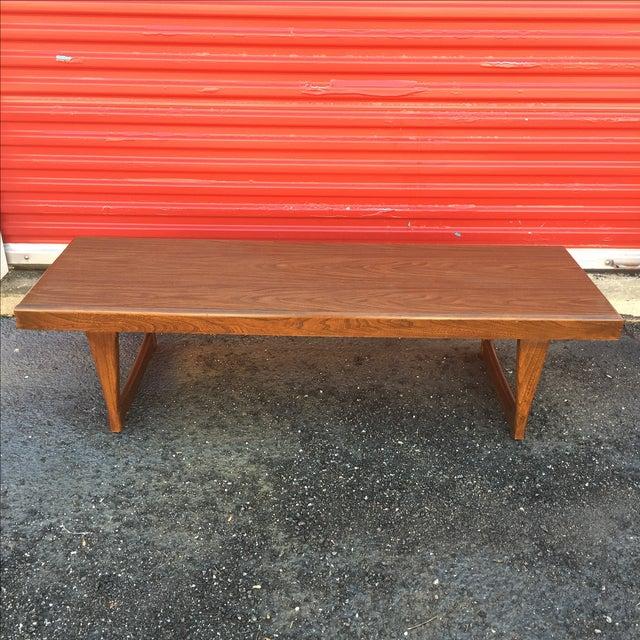 Mid Century Modern Walnut Coffee Table - Image 8 of 10