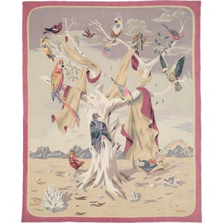 Early 20th Century French Tapestry by ML Aubusson Renard For Sale