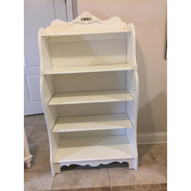 Stanley Furniture Shabby Chic Antique White Children's Bookcase For Sale -  Image 9 ... - Stanley Furniture Shabby Chic Antique White Children's Bookcase