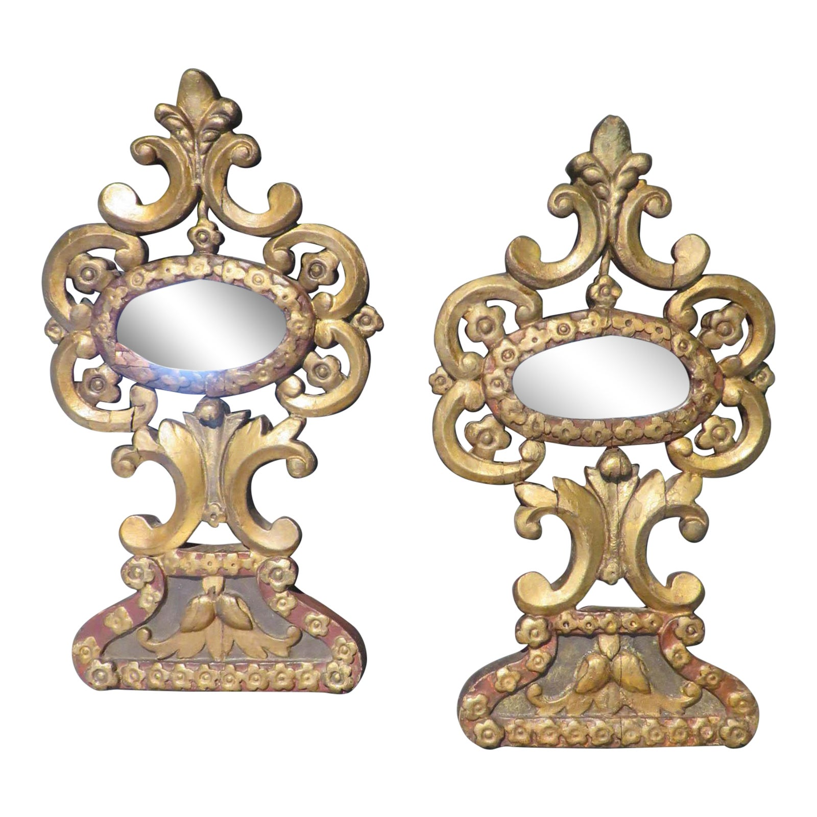 18th Century French Antique Mirrors Gilt Wood Mirrors With Original Glass A Pair Chairish