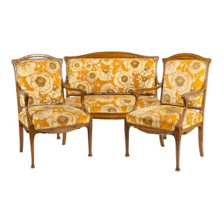 Early 20th Century Louis Majorelle Three-Piece Seating Set For Sale
