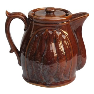 Rockingham Style Pitcher With Lid