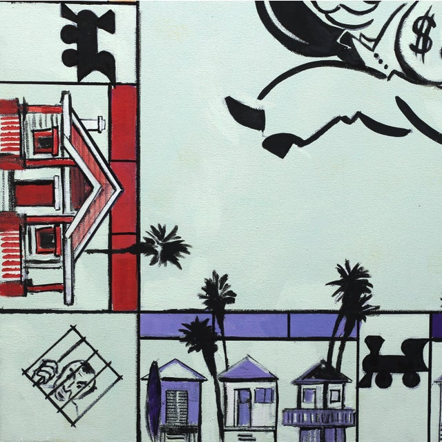 """2010s Kathleen Keifer """"Uncle Pennybags Real Estate"""" Contemporary Painting For Sale - Image 5 of 9"""