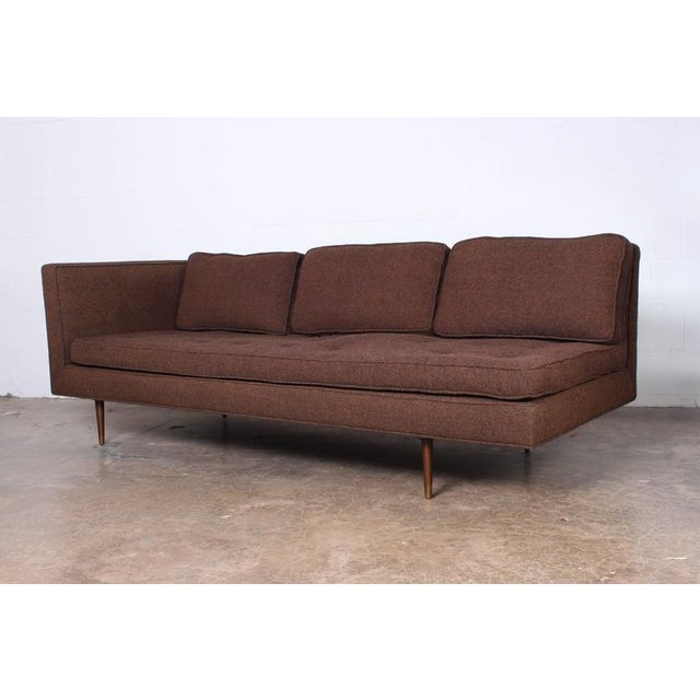 Dunbar Furniture Sofa/Chaise by Edward Wormley for Dunbar For Sale - Image 4 of 7