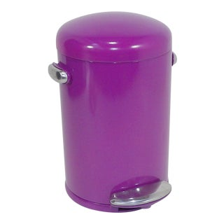 Vintage Purple Trash Can