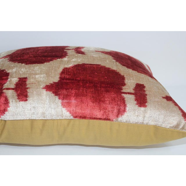 Silk Velvet Accent Pillow with a solid Cotton back. Zipper for closure. *Cover only.