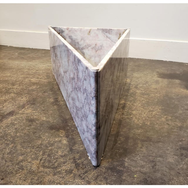 White 1970s Triangular White Marble Italian Coffee Table For Sale - Image 8 of 11