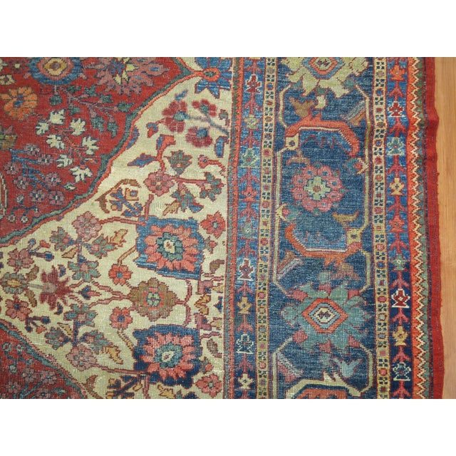 Shabby Chic Persian Sultanabad Rug 9'3'' X 12'6'' For Sale - Image 4 of 9