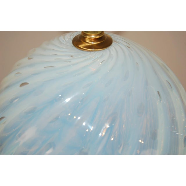 Glass Vintage Murano White Opaline Glass Table Lamps For Sale - Image 7 of 12