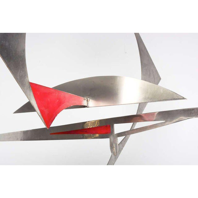 Stainless Steel Hanging Mobile Sculpture For Sale - Image 9 of 10