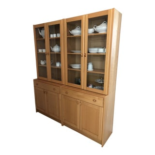 20th Century Danish Modern Domino Mobler China Cabinet For Sale