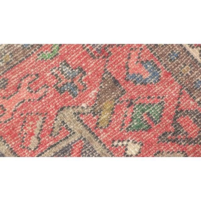 "Persian Heriz Runner Rug - 10'7"" x 2'2"" For Sale - Image 5 of 5"