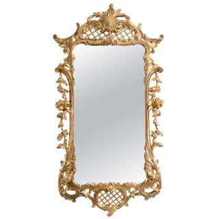 Unusual George II Carved Giltwood Mirror For Sale