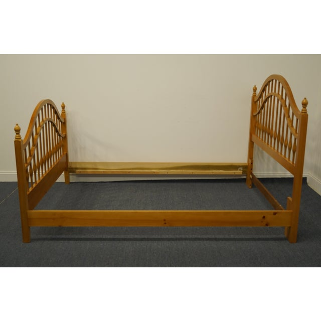 Vintage Thomasville Furniture Solid Knotty Pine Queen Size Spindle Bed For Sale In Kansas City - Image 6 of 10
