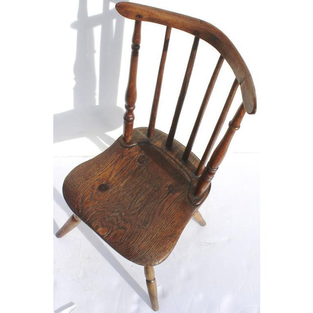 Early and Rare 19th Century Rare Child's Windsor Chair For Sale - Image 4 of 10