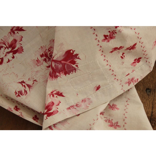 Textile Shabby Chic Faded Floral Drape Curtain For Sale - Image 7 of 11