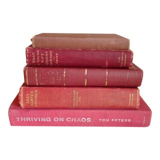 Red Antique Collected Books - Set of 5
