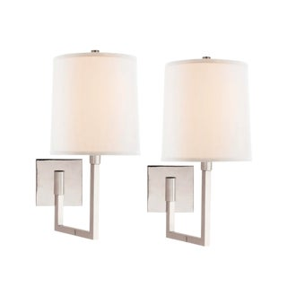 Barbara Barry for Circa Lighting Polished Nickel Wall Sconces - a Pair For Sale