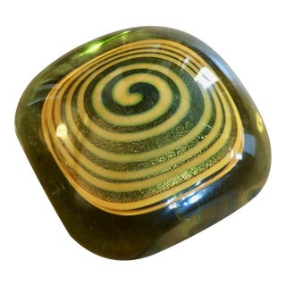 Vintage Studio Glass Paperweight For Sale