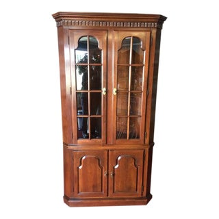 Late 20th Century Cherry Corner Cabinet For Sale