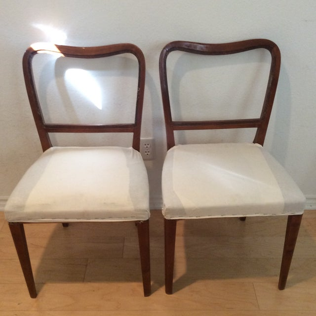 Wood Vintage Swedish Modern Dining / Side Chairs - a Pair For Sale - Image 7 of 7