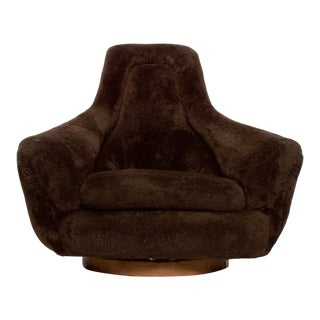 Mid Century Modern Plush Papa Polar Bear Lounge Chair After Jean Royere For Sale